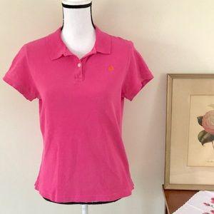 Lilly Pulitzer Pink Pima Cotton Polo Sz M